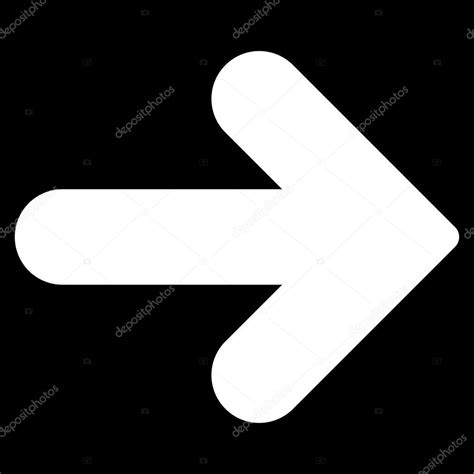 flat white color arrow right flat white color icon stock vector 169 ahasoft