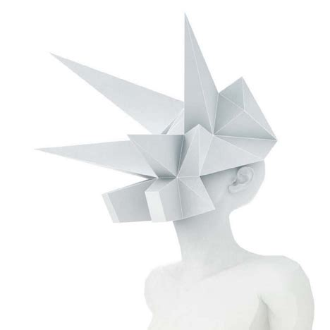 Origami Mask - paper architecture installations sculpture and design