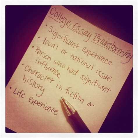 College Application Essay Brainstorming College Essays College Informations