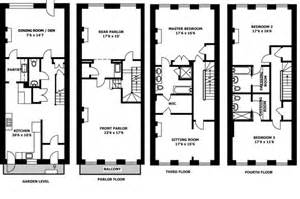 Nyc Floor Plans by New York Brownstone House Plan Nyc Brownstone Floor Plans