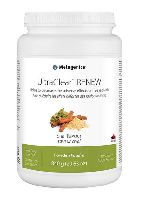 Metagenics Ultra Clear 28 Day Detox Program by Ultraclear Renew Chai Flavour Metagenics Vitepro