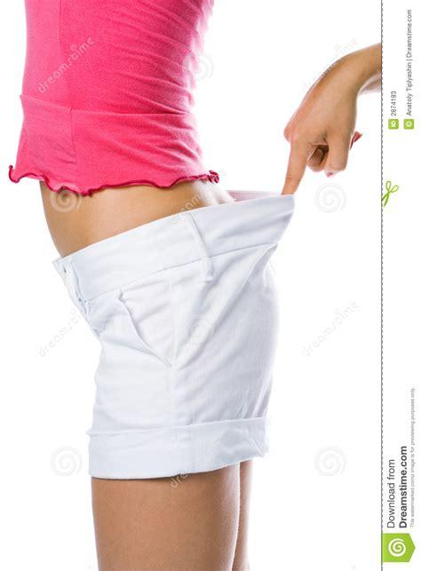 biggest waist female thin waist woman in big shorts stock photos image 2874183