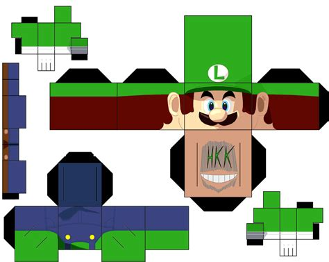 Papercraft Mario Bros - luigi by hollowkingking on deviantart