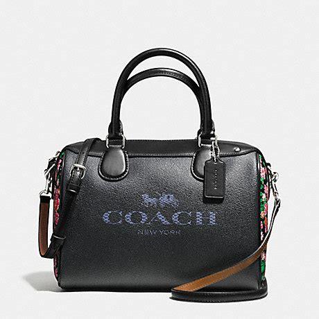 Tas Coach Mini Bennet Denim Original coach f57533 mini satchel in denim with and carriage silver denim pink