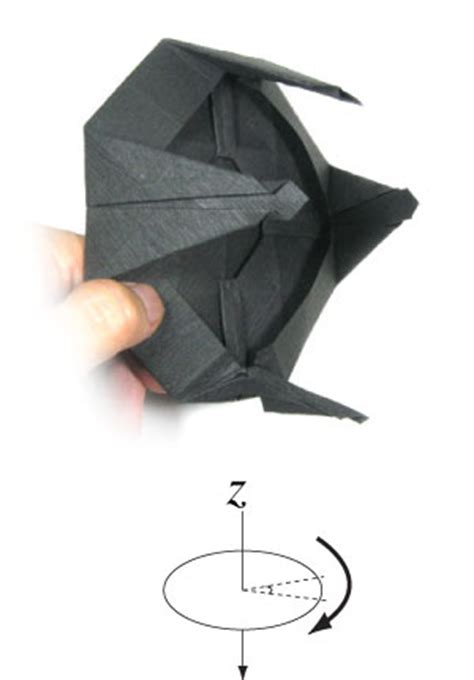 Origami Ufo - how to make a landed origami ufo page 16