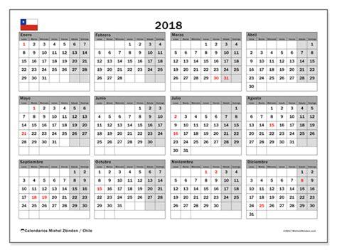 Chile Calend 2018 Calendario Para Imprimir 2018 D 237 As Feriados En Chile Chile