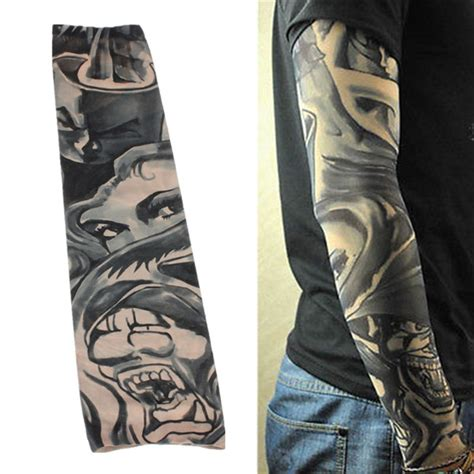 various pattern tattoo oversleeve 1 pcs nylon spandex temporary stretchable tattoo sleeve