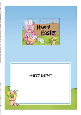easter card inserts templates 5x7 zoe piggy easter matching insert cup511102 359