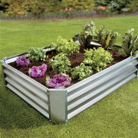 Galvanized Steel Garden Beds by Galvanized Steel Raised Garden Bed Home Outdoor