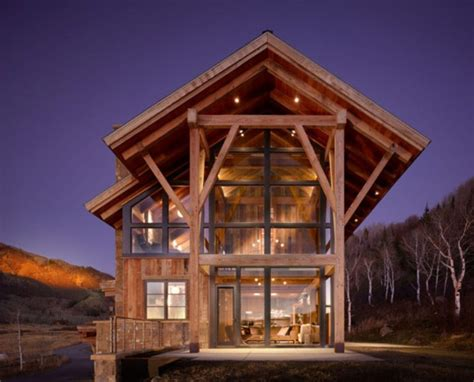 eco friendly modern rustic resindence in colorado digsdigs