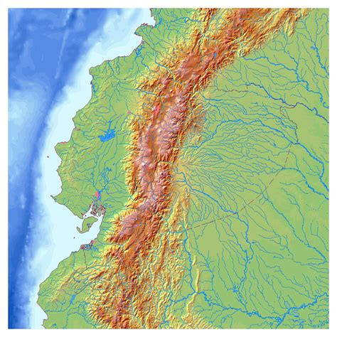 relief map large detailed relief map of ecuador ecuador large detailed relief map vidiani maps of