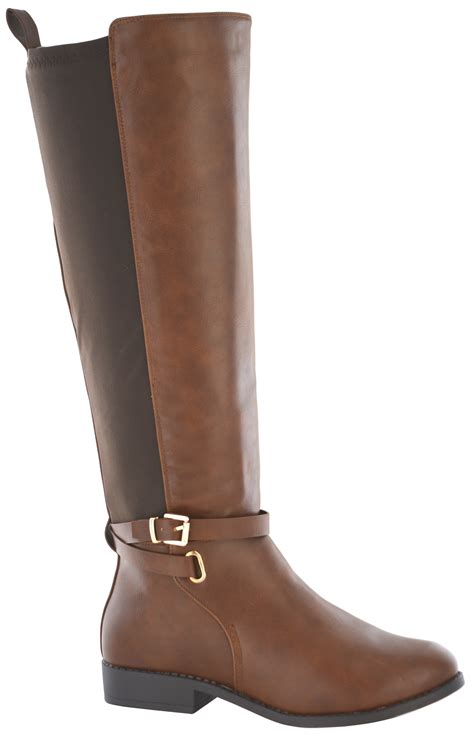 womens wide width boots womens elastic stretch wide calf