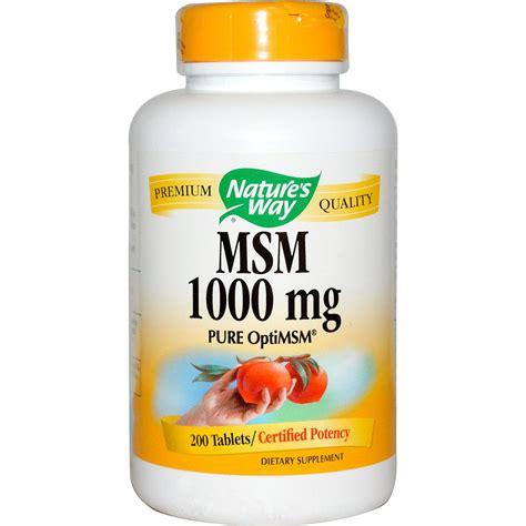 supplement msm nature s way msm optimsm 1000 mg 200 tablets