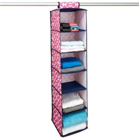 pink hanging closet organizer buy hanging closet organizer s from bed bath beyond