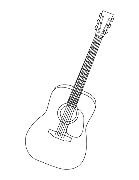 coloring book guitar electric guitar free colouring pages