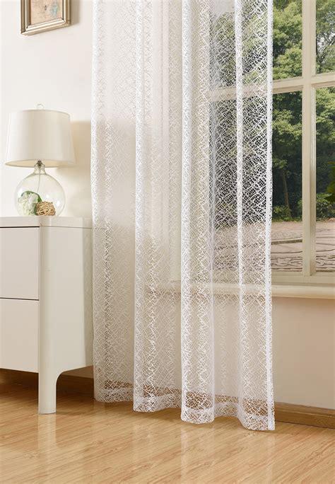 Vorhänge Netzoptik gardine netzvorhang mit 214 sen einfarbig transparent 245x140