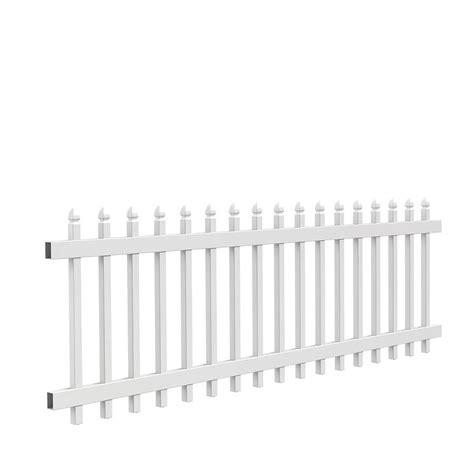 freedom pre assembled newport white vinyl fence panel