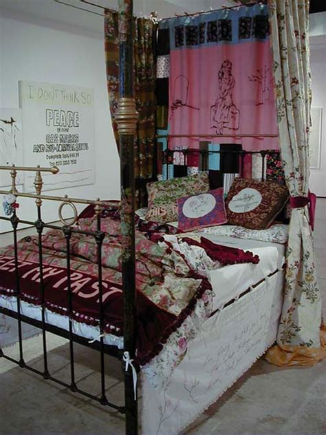 Four Poster Bed Curtains tracey emin to meet my past contemporary art