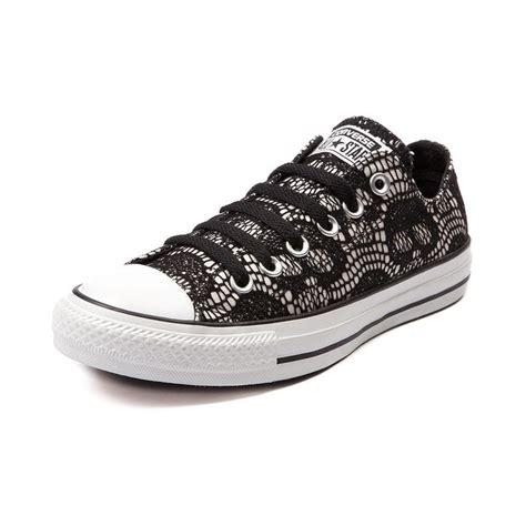 black pattern converse converse all star lo skull lace sneaker in black white 59