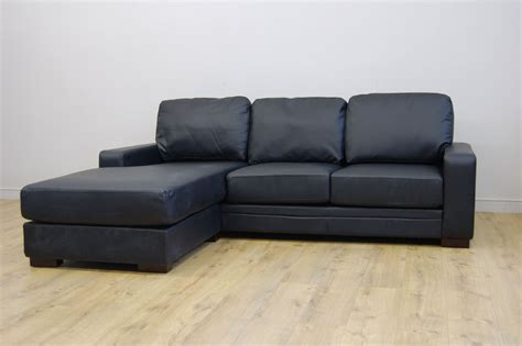Leather Sofa On Clearance Clearance Westpoint Black Leather Corner Sofa T650 Ebay