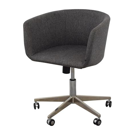 Home Office Stools by 80 Modern Grey Office Chair With Chrome Wheels Chairs