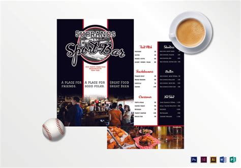 Bar Menu Templates 35 Free Psd Eps Documents Download Free Premium Templates Sports Bar Menu Template