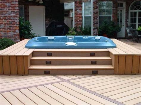 backyard deck designs with hot tub hot tub deck design hot tub patio ideas outdoor hot tubs