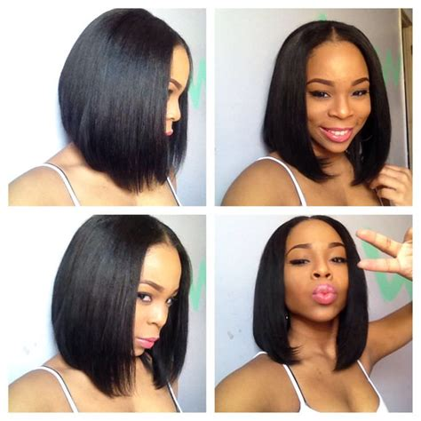 bob hair extensions with closures sew in bob black hair information community