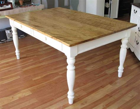 gorgeous rustic farmhouse table with storage drawers for