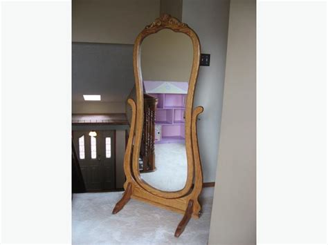 stand alone mirror with excellent condition oak full length stand alone mirror