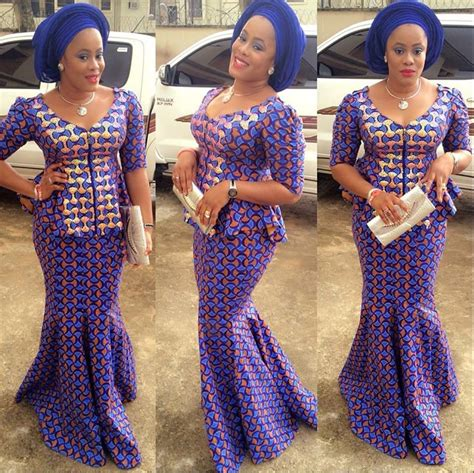 african latest ankara style trendy ankara style paired with blue gele debonke house
