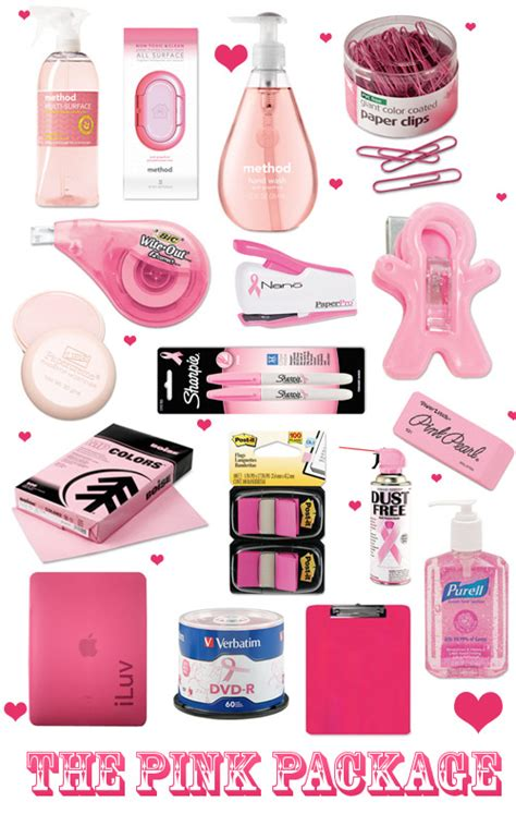 pink office supplies image search results