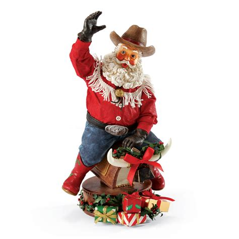 possible dreams cowboy santa riding mechanical bull
