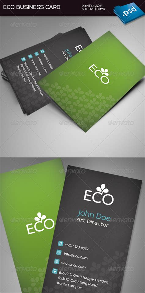 eco business card templates print template graphicriver eco business card 3782484