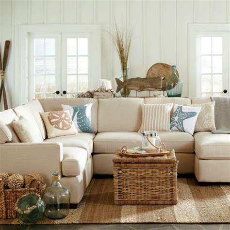 coastal living room with neutral sofas and brown chaise best 25 tan couch decor ideas on pinterest living room