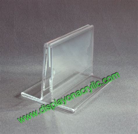 Acrylic Meja table tent holders countertop sign holder acrylic table tent display menu redroofinnmelvindale