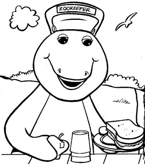 barney coloring pages free az coloring pages