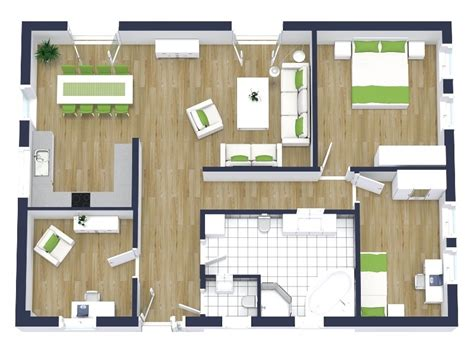 2 bedroom floor plans roomsketcher 3d plantegninger roomsketcher