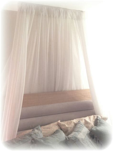 thin curtain pole simple diy canopy i created involving sheer curtains a