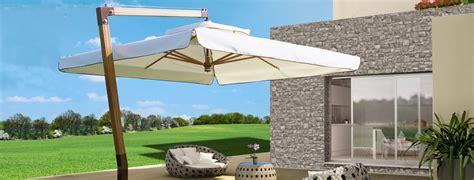 ombrelloni da terrazzo rettangolari produzione ombrelloni in legno giardini veneti s n c