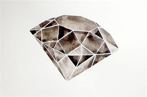 diamond tattoo geometric geometric watercolor painting original black white