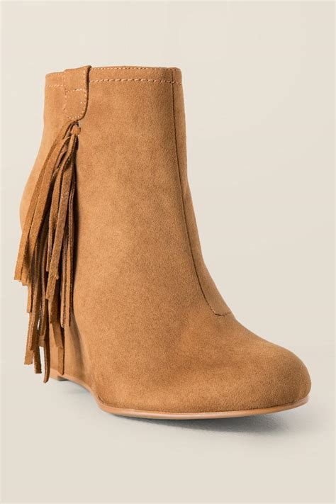 londyn fringe wedge boot boots and booties