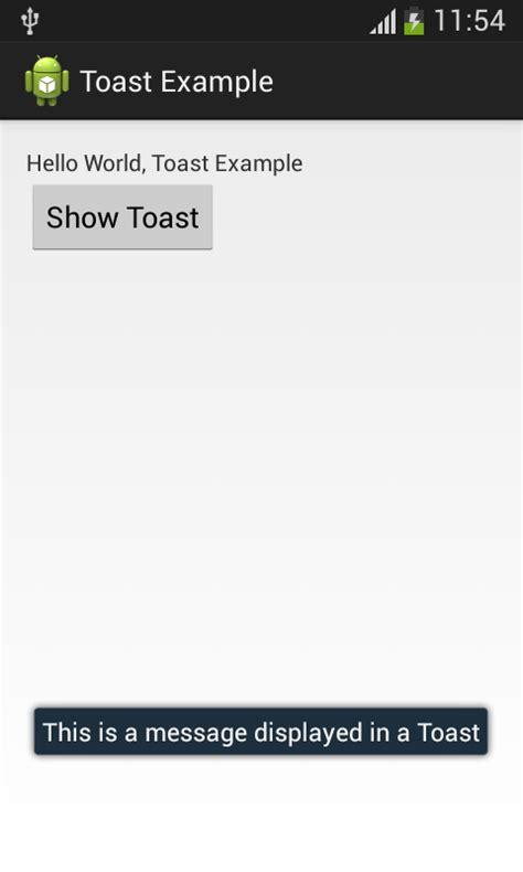 android studio toast tutorial android toast