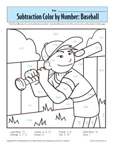 subtraction coloring pages for kindergarten 1st grade addition and subtraction worksheets
