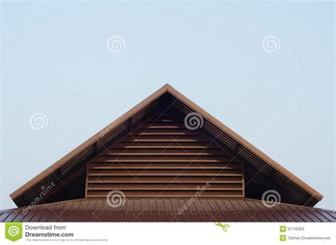 Triangle Shaped Roof Roof Top Triangle Stock Photo Image 51110353
