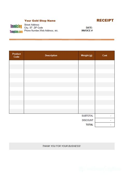 llc distribution receipts template receipt template for gold shop 3
