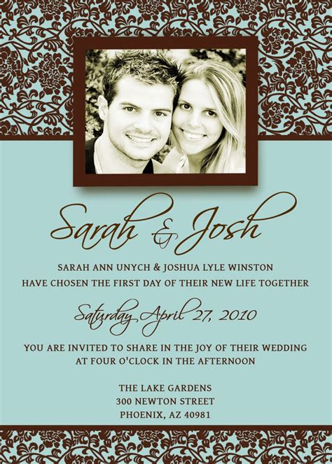 sarah josh wedding invitation template from etsy ipunya