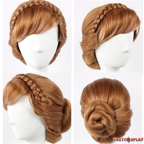 updo wigs for women disney frozen princess anna cosplay updo wigs