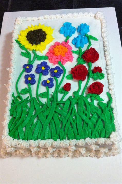 Flower Garden Cake Cakes Pinterest with Flower Garden Cake Pinterest