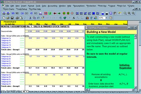 Software Exl Plan Planning Tool For Excel Template Packages For Preparing Comprehensive Sales Plan Exle